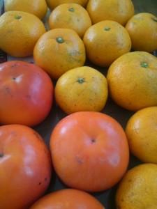 みかんと柿
